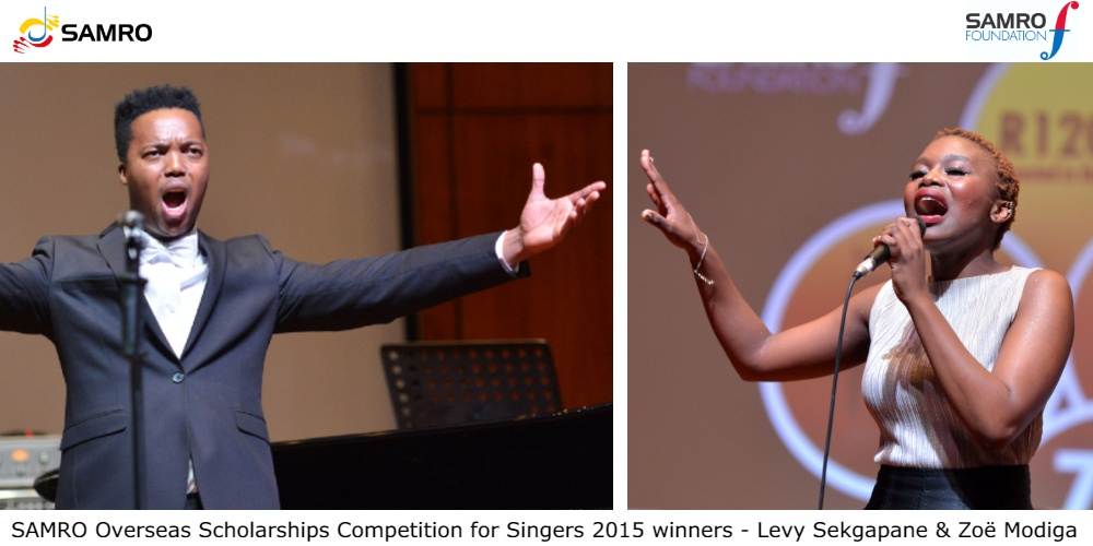 Time is ticking away for singers to apply to the SAMRO Overseas Scholarships Competition: Applications due 15 May